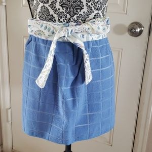 Homemade dish towel apron